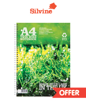 silvine premium recycled notepads A4