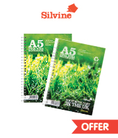 silvine premium recycled notepads A5